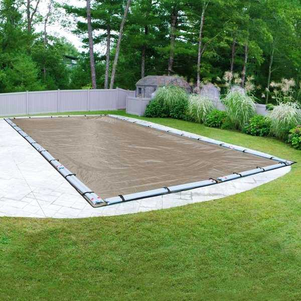 Pool Mate 20-Year Premium Sandstone Winter Cover for In-Ground Swimming Pools