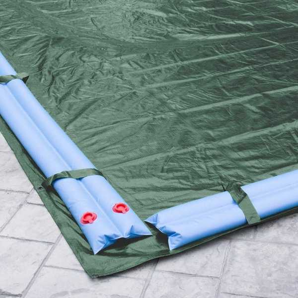 Pool Mate Heavy-Duty Grass Green Winter Cover for In-Ground Swimming Pools