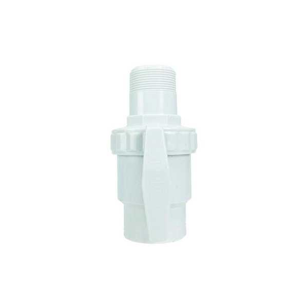 HydroTools Swimming Pool Standard Threaded Ball Valve - White