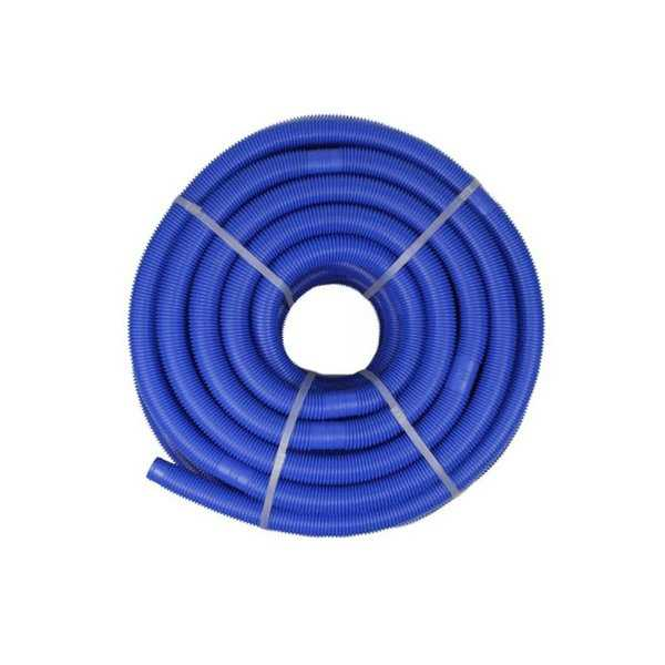 Blue Blow-Molded PE In-Ground Swimming Pool Cuttable Vacuum Hose - 147.5' x 1.5'