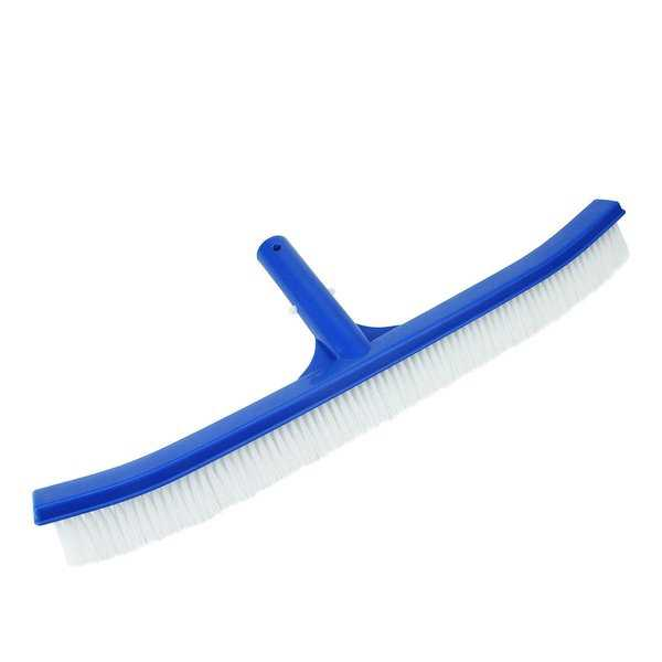 18' Blue Standard Curved Swimming Pool Bristle Wall Brush