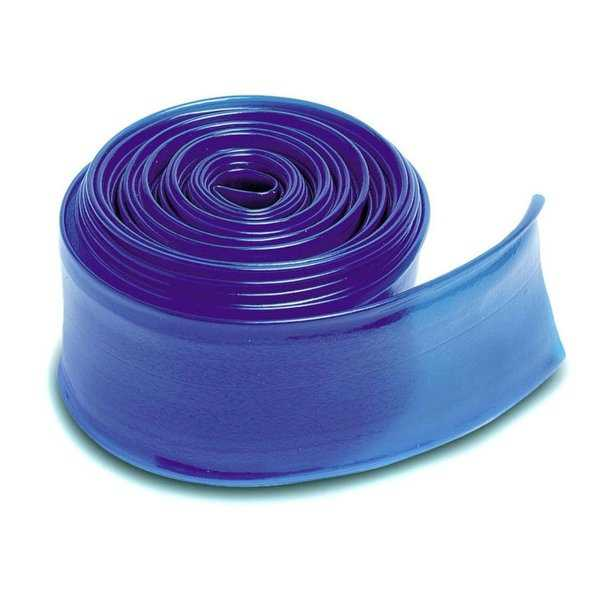 Transparent Blue Heavy Duty Swimming Pool PVC Filter Backwash Hose - 25' x 1.5'