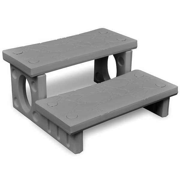 vidaXL Gray Spa Steps