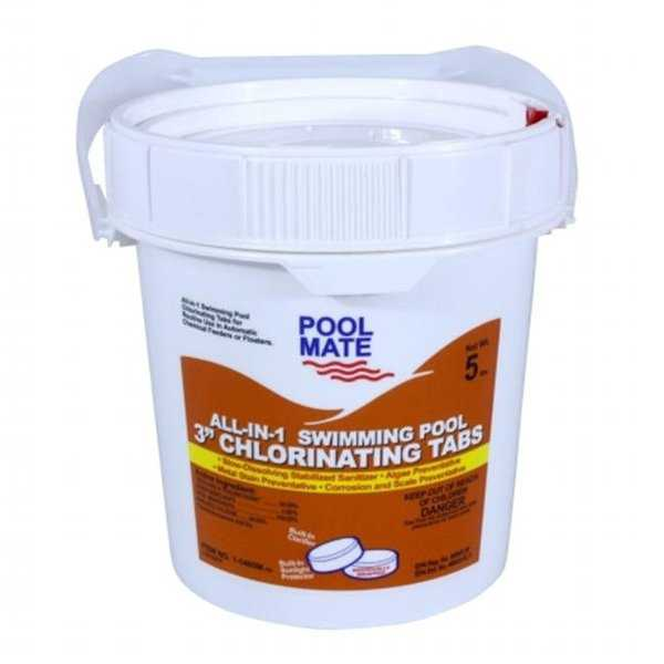 Pool Mate 1-1405M All-In-1 3 in. Chlorine Tabs, 5 lbs.